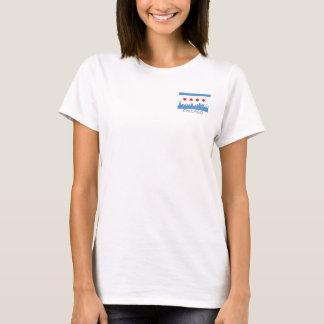 Drapeau de Chicago : Poche venteuse de ville T-shirt
