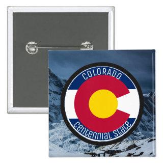 Drapeau de circulaire du Colorado Badge