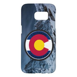 Drapeau de circulaire du Colorado Coque Samsung Galaxy S7