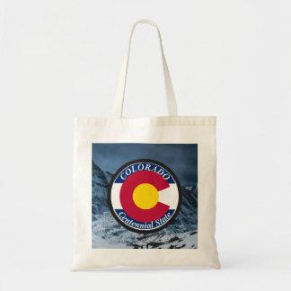 Drapeau de circulaire du Colorado Sac Fourre-tout