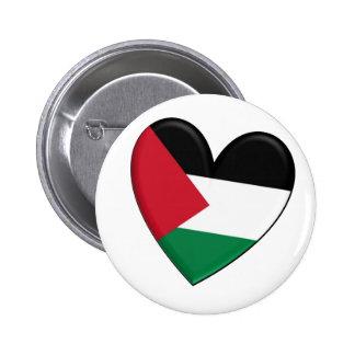 Drapeau de coeur de la Palestine Badges Avec Agrafe