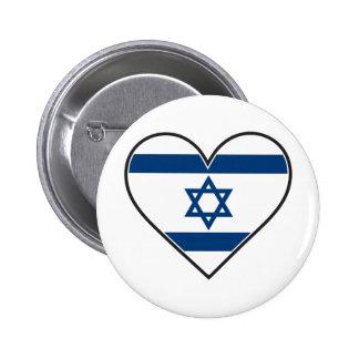 drapeau de coeur de l'Israël Pin's
