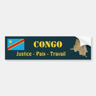 Drapeau de Congo-Kinshasa + Adhésif pour pare-choc Autocollants Pour Voiture