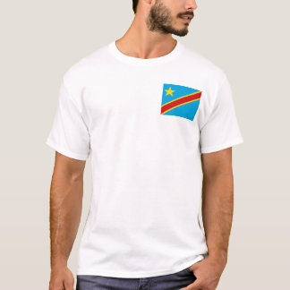 Drapeau de Congo-Kinshasa et T-shirt de carte