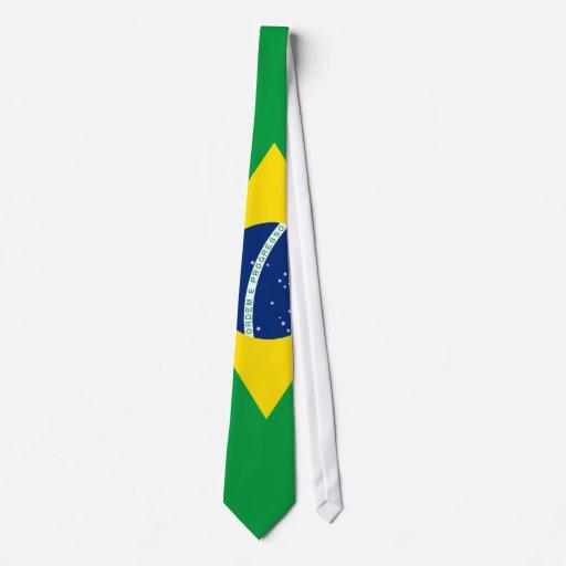Drapeau de cravate du Brésil