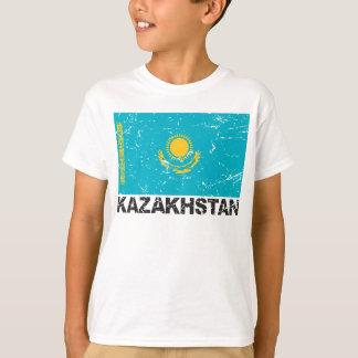 Drapeau de cru de Kazakhstan T-shirt