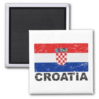 Drapeau de cru de la Croatie Aimant