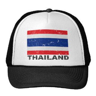 Drapeau de cru de la Thaïlande Casquettes