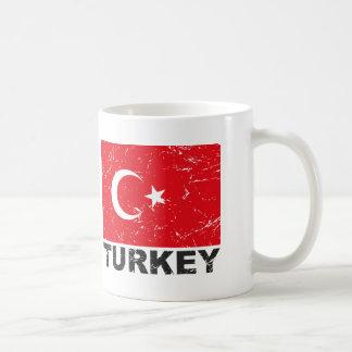 Drapeau de cru de la Turquie Mug