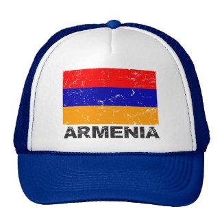 Drapeau de cru de l'Arménie Casquette Trucker