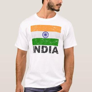 Drapeau de cru de l'Inde T-shirt