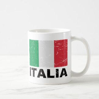 Drapeau de cru de l'Italie Mug À Café