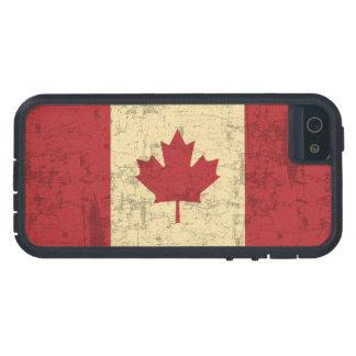 Drapeau de cru du Canada affligé Étui iPhone 5