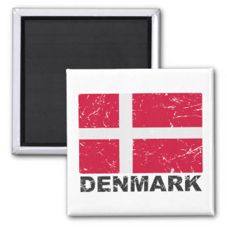 Drapeau de cru du Danemark Magnet Carré