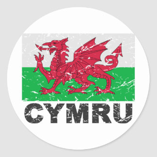 Drapeau de cru du Pays de Galles CYMRU Autocollants