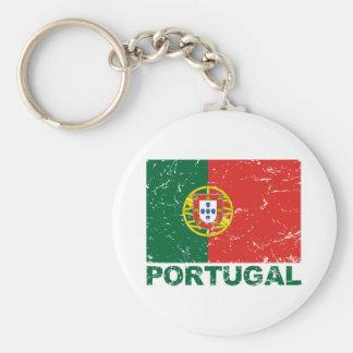 Drapeau de cru du Portugal Porte-clé Rond