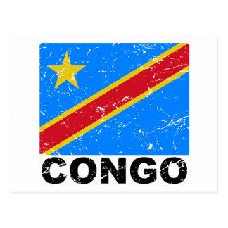 Drapeau de cru du République démocratique du Congo Carte Postale