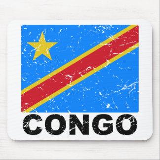 Drapeau de cru du République démocratique du Congo Tapis De Souris