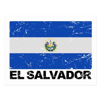 Drapeau de cru du Salvador Carte Postale