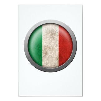 Drapeau de disque de l'Italie Invitations Personnalisées