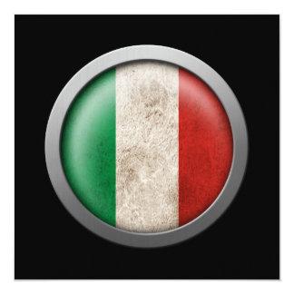 Drapeau de disque de l'Italie Faire-part Personnalisés