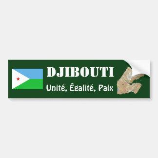 Drapeau de Djibouti + Adhésif pour pare-chocs de c Adhésifs Pour Voiture
