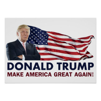 Drapeau de Donald Trump USA Posters