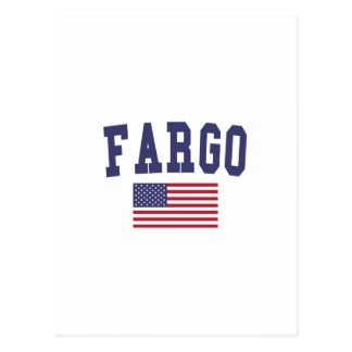 Drapeau de Fargo USA Carte Postale