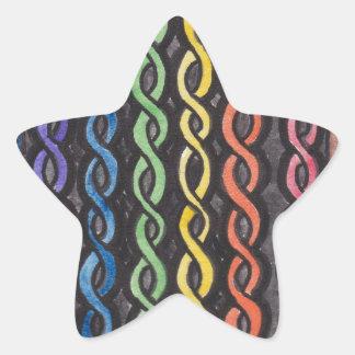 Drapeau de fierté de Knotwork de Celtic Sticker Étoile