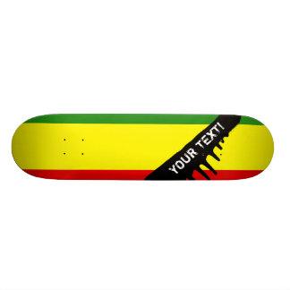 Drapeau de fierté de Rastafarian Mini Skateboard 18,4 Cm