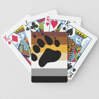 Drapeau de fierté d'ours jeu de cartes