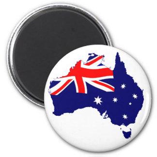 Drapeau de forme de l'Australie Aimant