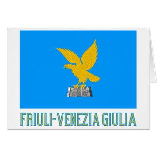 Drapeau de Friuli-Venezia Giulia avec le nom Cartes De Vœux