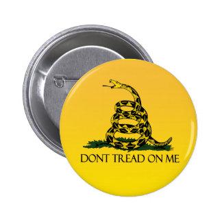 Drapeau de Gadsden, arrière - plan jaune Badges