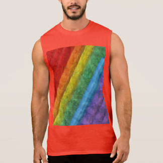 Drapeau de gay pride de mosaïque d'arc-en-ciel t-shirt sans manches