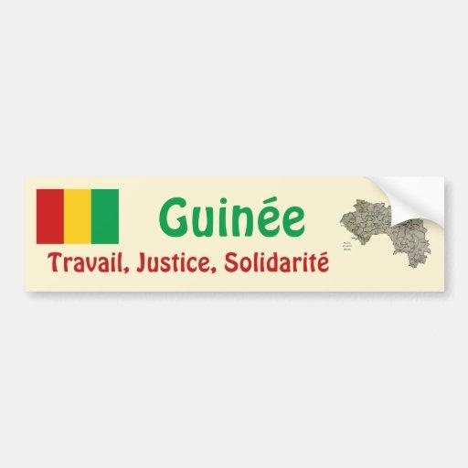 Drapeau de Guinée-Conakry + Adhésif pour pare-choc Autocollant Pour Voiture