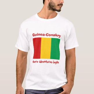 Drapeau de Guinée-Conakry + Carte + T-shirt des
