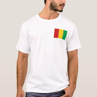 Drapeau de Guinée-Conakry et T-shirt de carte