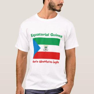 Drapeau de Guinée équatoriale + Carte + T-shirt