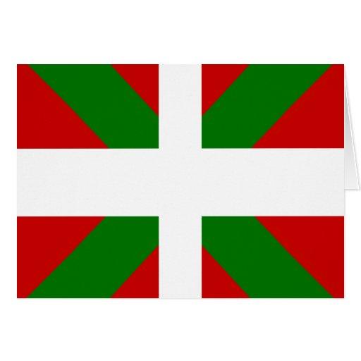 Drapeau de haute qualité Basque Cartes De Vœux