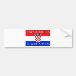 Drapeau de Hrvatska de Croate de la Croatie Autocollant Pour Voiture