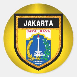 Drapeau de Jakarta Sticker Rond