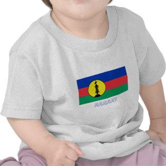 Drapeau de Kanaky avec le nom T-shirts