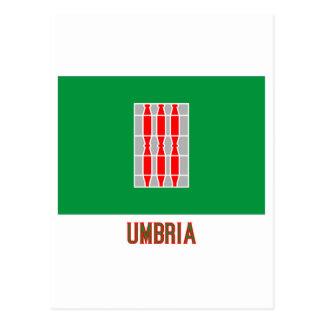 Drapeau de l Ombrie avec le nom Cartes Postales