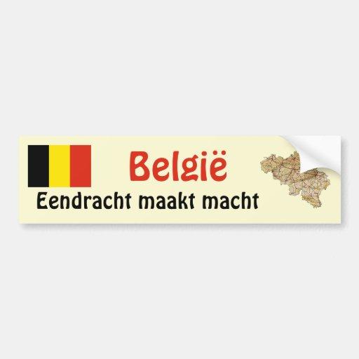 Drapeau de la Belgique et adhésif pour pare-chocs  Adhésifs Pour Voiture