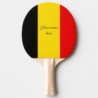 Drapeau de la Belgique Raquette Tennis De Table