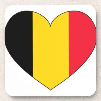 Drapeau de la Belgique simple Dessous-de-verre