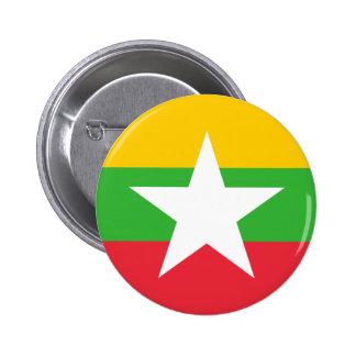 Drapeau de la Birmanie ; Myanmar Badges Avec Agrafe