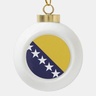 Drapeau de la Bosnie Herzgovina Boule En Céramique