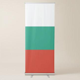 Drapeau de la Bulgarie Banderole Rétractable